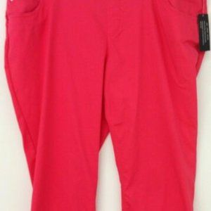 Coral cropped Capris